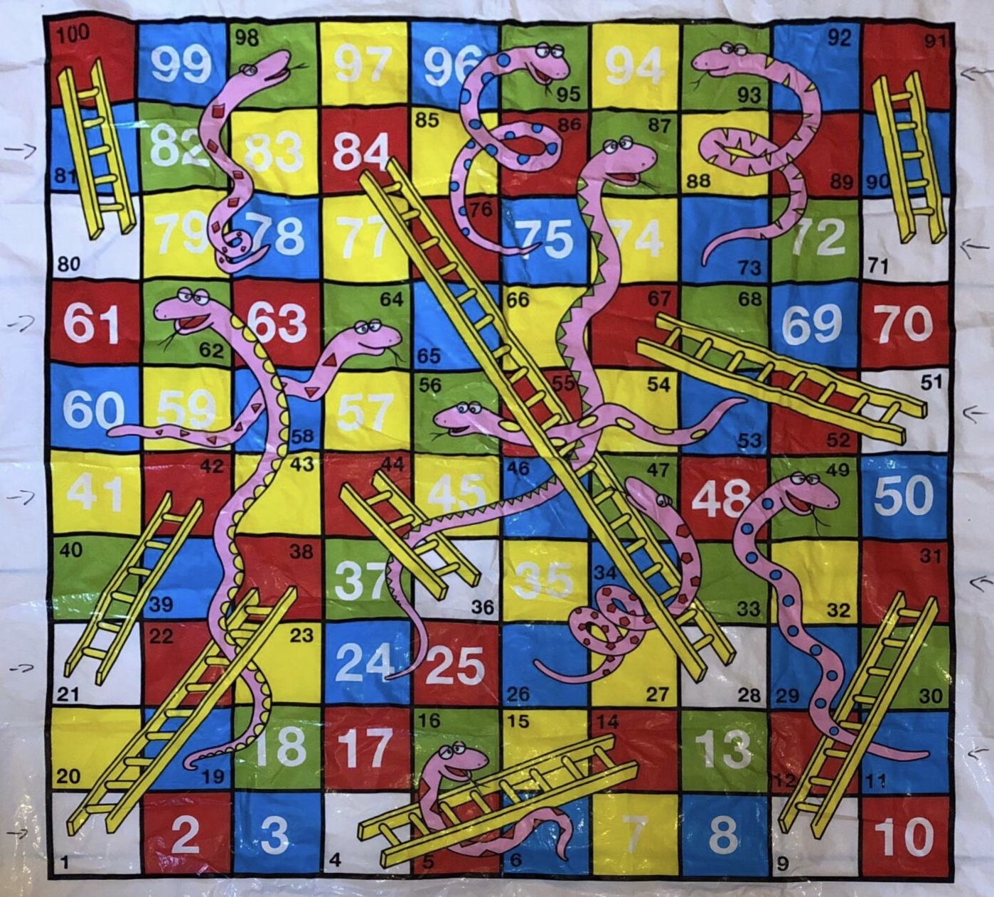 Our Snakes and Ladders Board